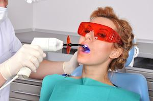 a woman gets worked done at the dentist | st petersburg fl dental fillings